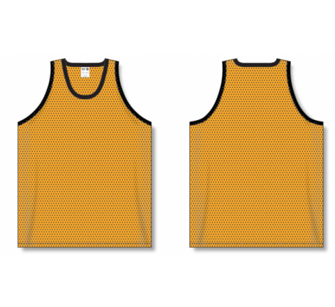 Polymesh TradItional Cut Basketball Jerseys - Gold