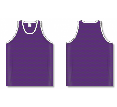 Polymesh TradItional Cut Basketball Jerseys - Purple