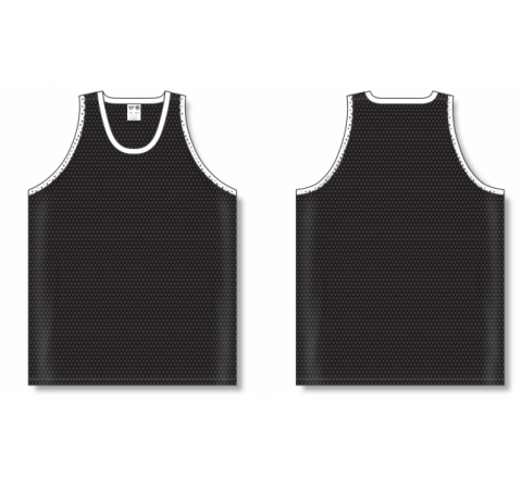 Polymesh TradItional Cut Basketball Jerseys - Black