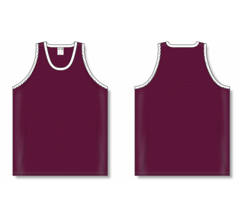 Polymesh TradItional Cut Basketball Jerseys - Maroon