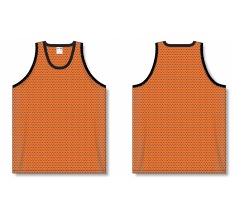 Polymesh TradItional Cut Basketball Jerseys - Orange