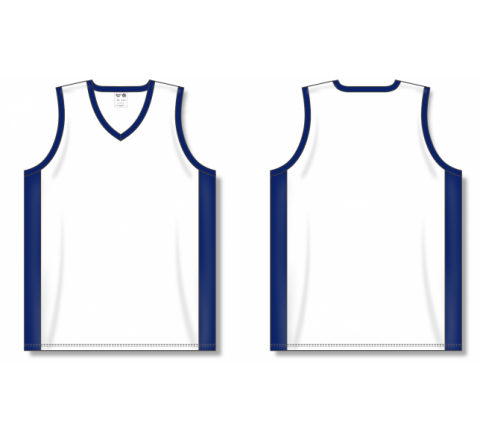 Dry-Flex Pro Cut with Inserts Basketball Jerseys - White/Navy