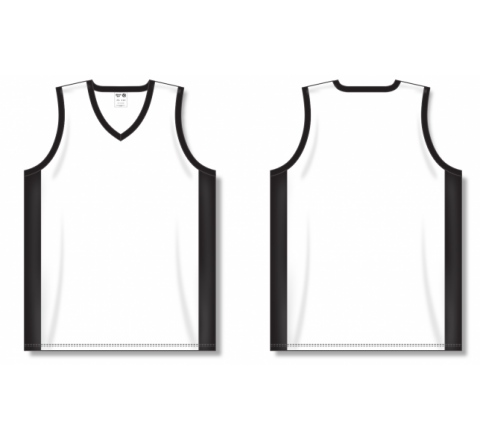 Dry-Flex Pro Cut with Inserts Basketball Jerseys - White/Black