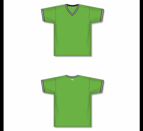 V-Neck Baseball Jersey - Lime Green