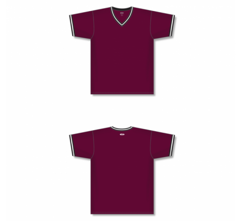 V-Neck Baseball Jersey - Maroon