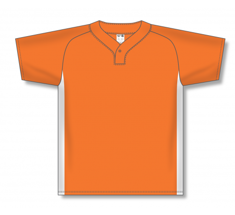 One Button Baseball Jerseys - Orange/White