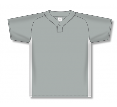 One Button Baseball Jerseys - Grey/White