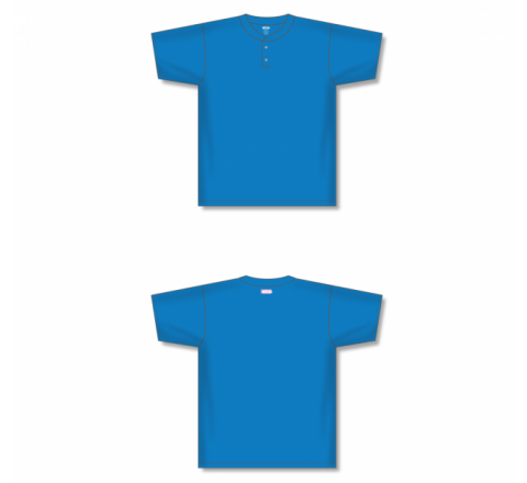 Two-Button Baseball Jersey - Pro Blue