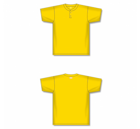 Two-Button Baseball Jersey - Maize