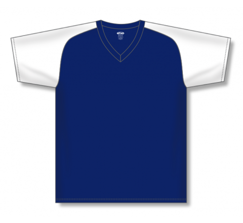 V-Neck Baseball Jerseys - Navy/White