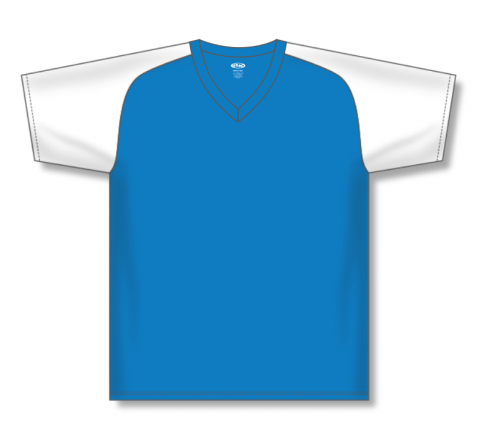 V-Neck Baseball Jerseys - Pro Blue/White