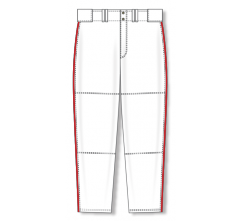 Baseball Pants - White/Red