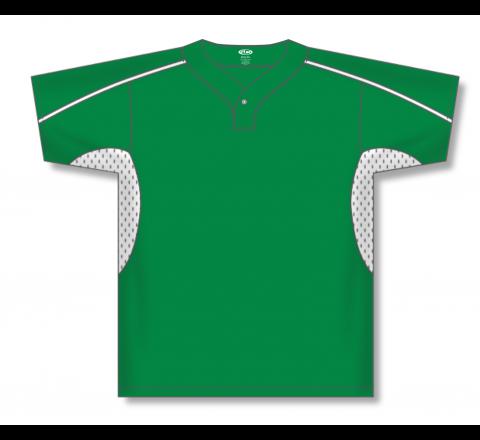 One Button Baseball Jerseys - Kelly/White