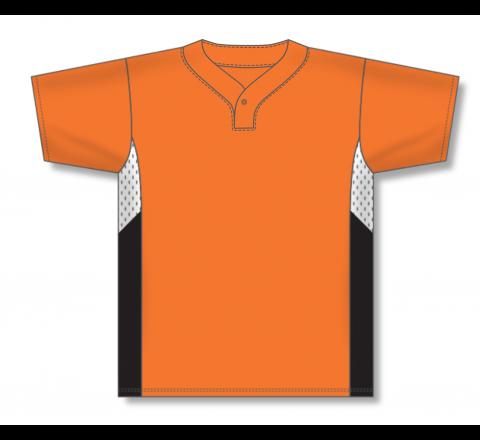 One Button Baseball Jerseys - Orange/White/Black