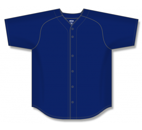 Full Button Baseball Jerseys - Navy