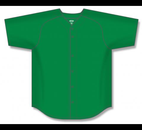 Full Button Baseball Jerseys - Kelly