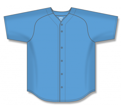 Full Button Baseball Jerseys - Sky