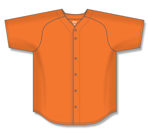 Full Button Baseball Jerseys - Orange