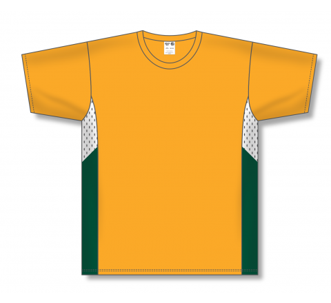 Pullover Baseball Jerseys - Gold/White/Dark Green