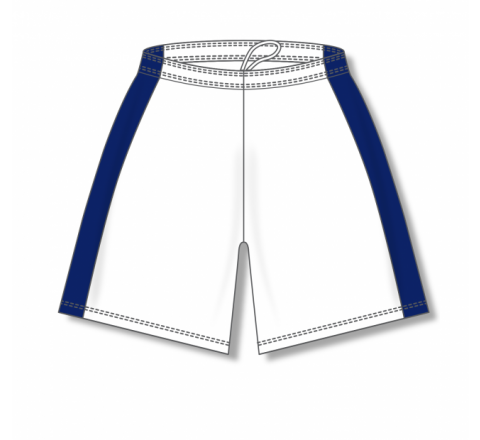 Dry-Flex with Side Inserts Basketball Shorts - White/Navy