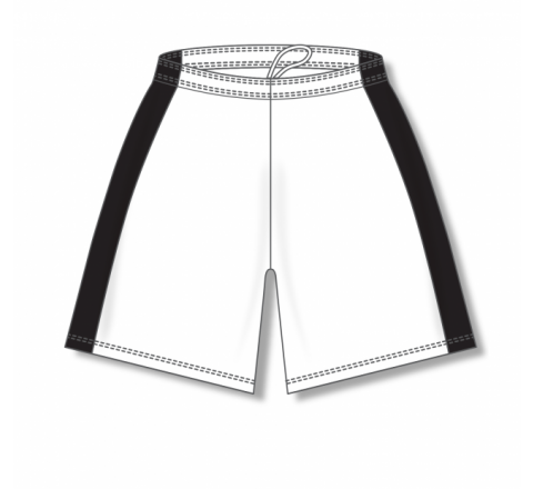 Dry-Flex with Side Inserts Basketball Shorts - White/Black