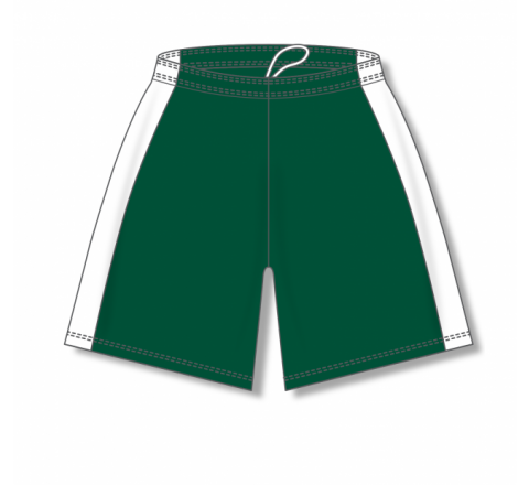 Dry-Flex with Side Inserts Basketball Shorts - Dark Green