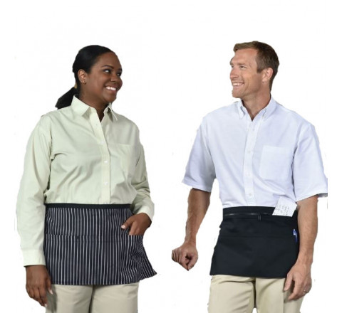 """Aprons - Coin Aprons w Pockets & Embroidery 23""""W x 12""""L"""