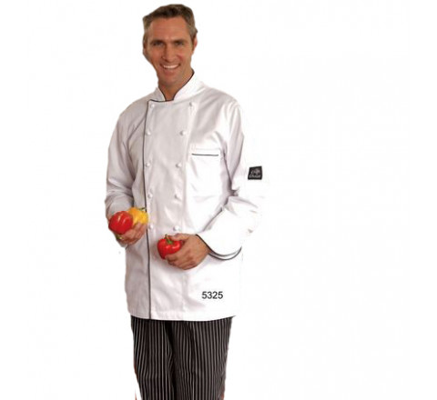 Chef Coats - Thin Black Corded Trim 65/35 Poly/Cotton