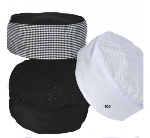 Chef Hats - Pill Box Mesh Cap with Mesh