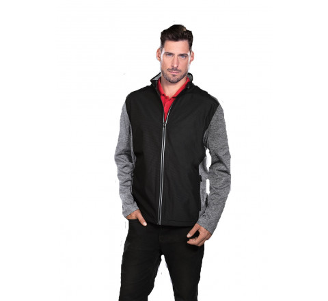 Men's Lightweight Performance Jacket w/ 3M Reflectivity and Jersey Melange