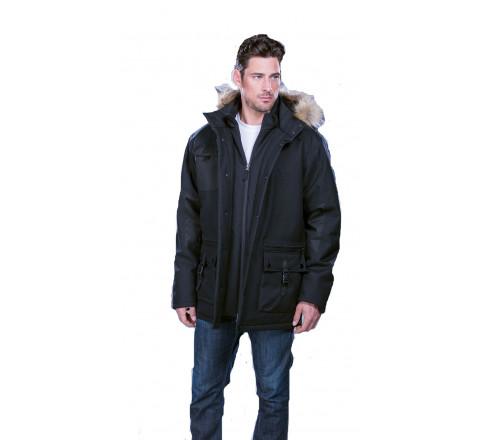 Men's Heavyweight Winter Jacket with Detachable Hood
