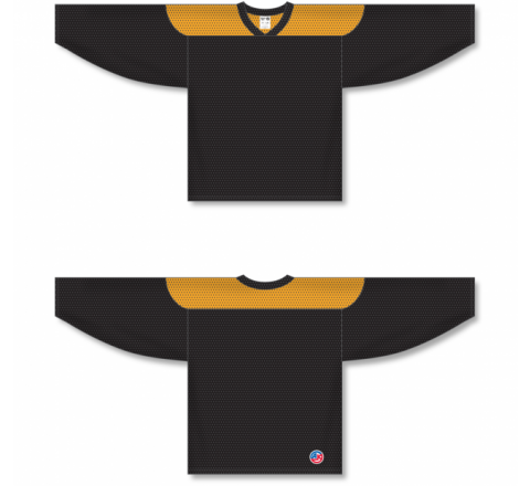 League Series Hockey Jerseys - Black/Gold