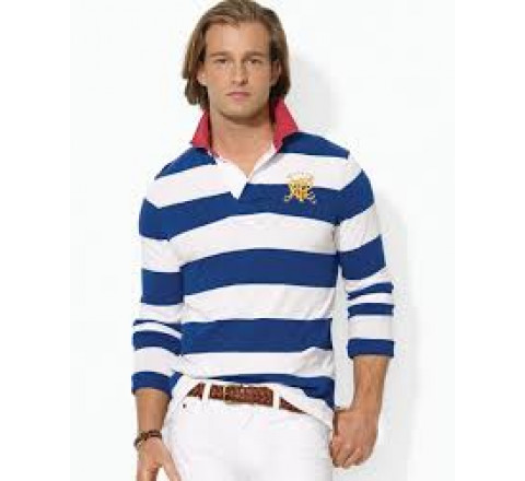 4in Stripe Casual Light Weight Cotton Rugby Shirts