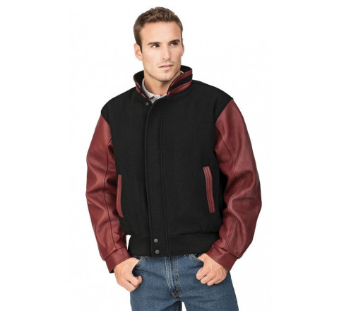 Graduate-Men's Melton and Leather Jacket