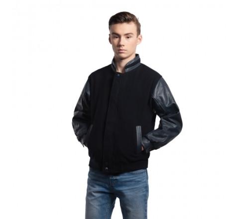 Youth Melton and Leather Jacket
