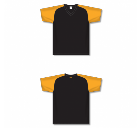 Custom Screen printed Soccer Jersey - Black/Gold