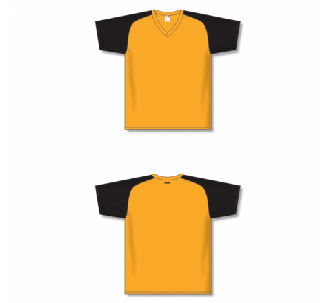 Custom Screen printed Soccer Jersey - Gold/Black