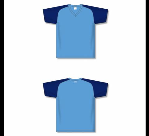 Custom Screen printed Soccer Jersey - Sky/Navy