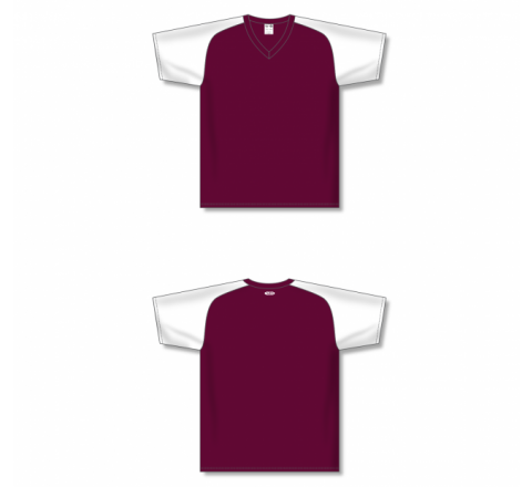 Custom Screen printed Soccer Jersey - Maroon/White