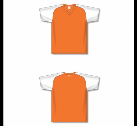 Custom Screen printed Soccer Jersey - Orange/White