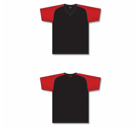 Custom Screen printed Soccer Jersey - Black/Red