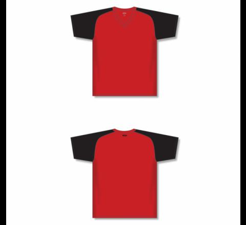 Custom Screen printed Soccer Jersey - Red/Black
