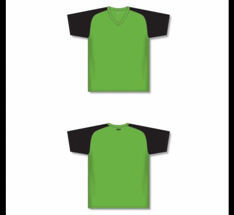 Custom Screen printed Soccer Jersey - Lime Green