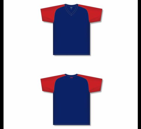 Custom Screen printed Soccer Jersey - Navy/Red