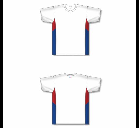 Custom Screen printed Soccer Jersey - White