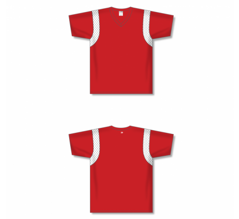 Custom Screen printed Soccer Jersey - Red/White