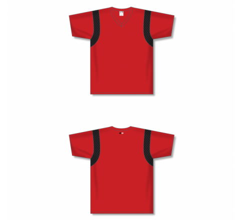Custom Screen printed Soccer Jersey -Red/Black