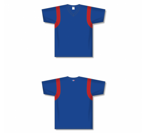 Custom Screen printed Soccer Jersey -Royal/Red