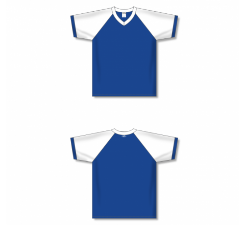 V-Neck Volleyball Jerseys - Royal/White