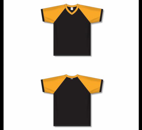 V-Neck Volleyball Jerseys - Black/Gold